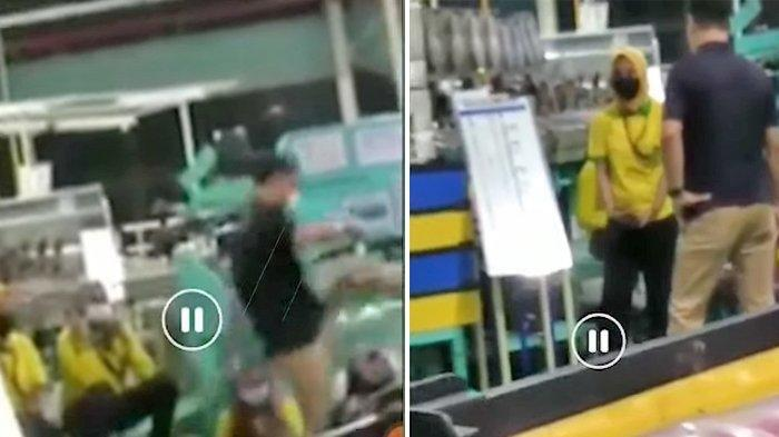 TKA Korea Tendang Karyawati di Subang, Berawal dari Korban Bawa Makan ke Tempat Kerja, Ini Videonya