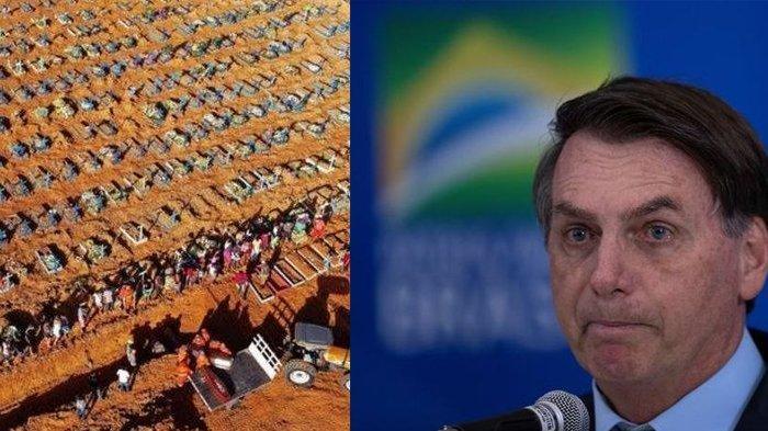 Presidennya Sesumbar Kebal Corona, Brasil Kini Tembus 1 Juta, WHO: Sudah Diingatkan Tapi Tak Peduli