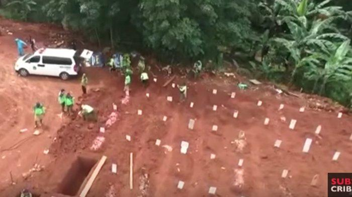 Kuburan masal korban virus corona