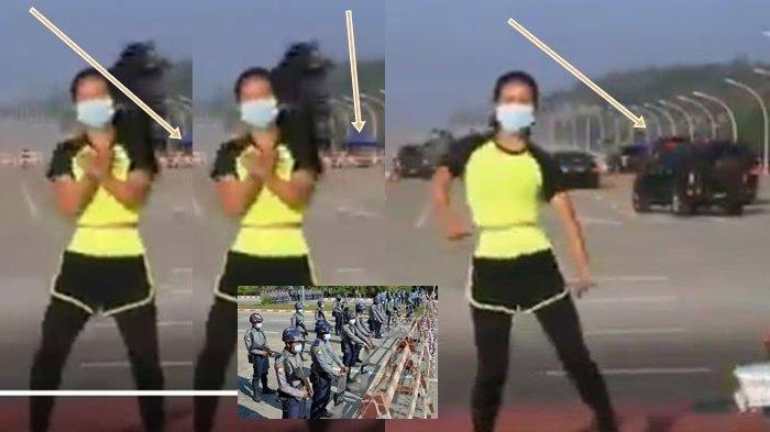 TEKA-TEKI Sosok Wanita Joget TikTok 'Ampun Bang Jago' Berlatar Kudeta Militer di Myanmar Terbongkar