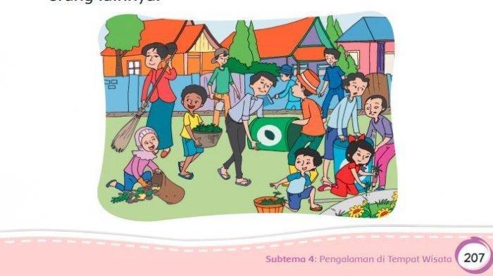 KUNCI JAWABAN Tema 9 Kelas 4 Subtema 1 Hal 16-20, Berapa Kali Kegiatan Kerjabakti di Lingkunganmu?