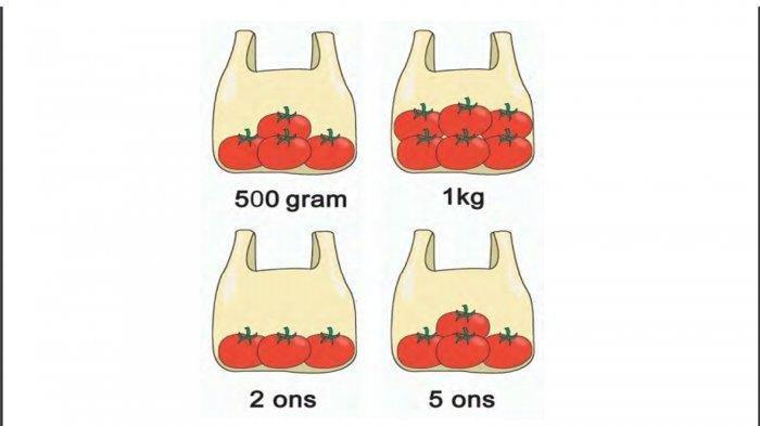 KUNCI JAWABAN Tema 6 Kelas 2 SD/MI Subtema 4, Sebutkan Berat Setiap Kemasan Tomat dalam Plastik