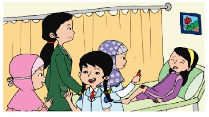 KUNCI JAWABAN Tema 7 Kelas 2 SD Hal 151-154, Buatlah Kalimat Perbincangan Antara Siti & Dokter Kecil