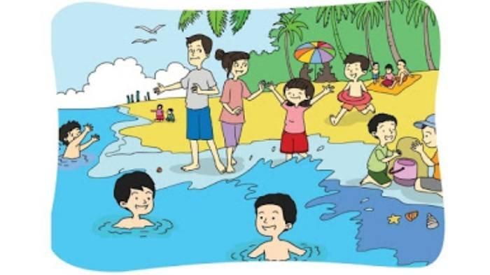 KUNCI JAWABAN Tema 7 Kelas 2 SD Halaman 201- 208, Contoh Kegiatan di Tempat Wisata yang Menyenangkan