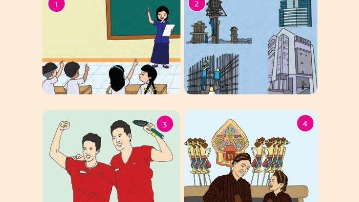 KUNCI JAWABAN Tema 9 Kelas 5 SD Subtema 2 Hal 80-93, Gambar yang Mencerminkan Persatuan dan Kesatuan