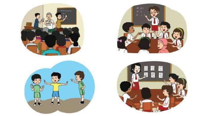 KUNCI JAWABAN Tema 8 Kelas 3 SD Subtema 2 Hal 64-70, Contoh Pelaksanaan Sila Keempat Pancasila