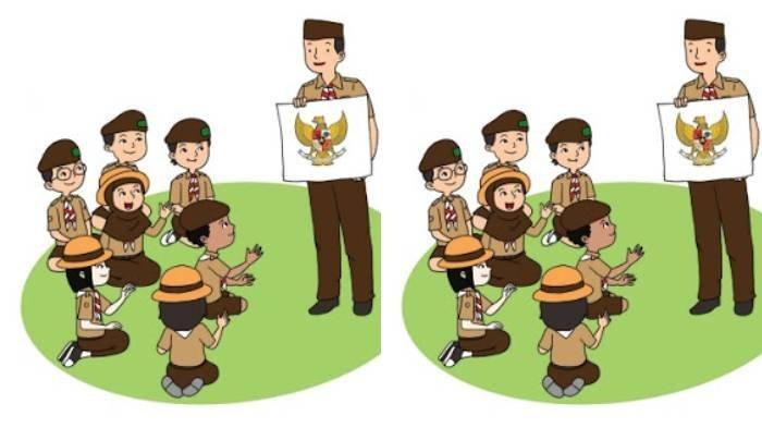 KUNCI JAWABAN Tema 8 Kelas 3 SD Subtema 1 Halaman 4 5 6 7 8, Perhatikan Lagu Pantun Pramuka