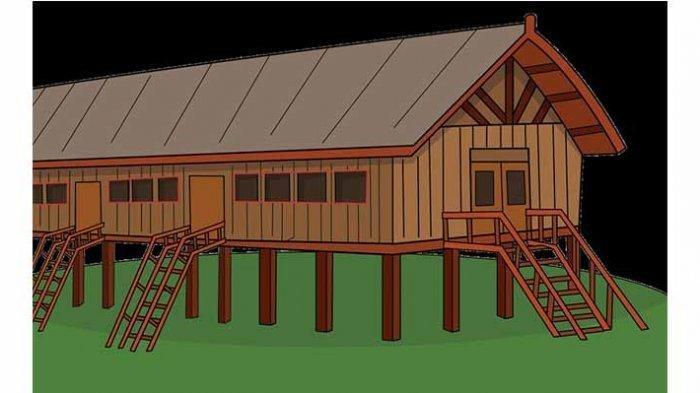 Kunci jawaban Tema 8 kelas 5 SD/MI mengenai rumah uluk palin