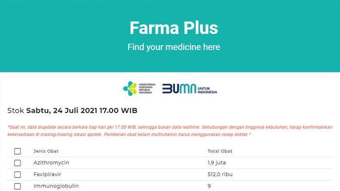 CARA MUDAH Cek Stok Obat Terapi Covid-19 di Apotek via Online, Akses Website farmaplus.kemkes.go.id