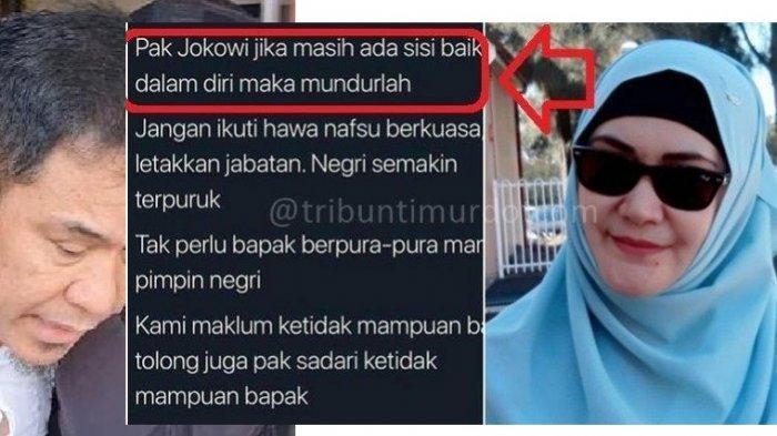 'Pak Jokowi, Jika Masih Ada Sisi Baikmu, Mundurlah' Jejak Digital Lily Sofia di Video Viral Munarman