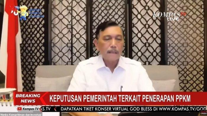 PPKM Jawa-Bali Berakhir Hari Ini, Benarkah Diperpanjang Mulai 31 Agustus? Menko Luhut Beri Bocoran