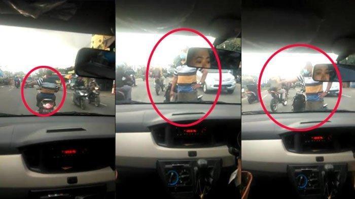 DETIK-DETIK Pria di Gresik Marah-marah Gedor Mobil Mahasiswi Lalu Ayunkan Paving, Ini Faktanya