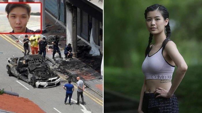 PENGORBANAN Mantan Pramugari Selamatkan Tunangan saat Mobil Tabrak Ruko & Terbakar, Kini Kritis