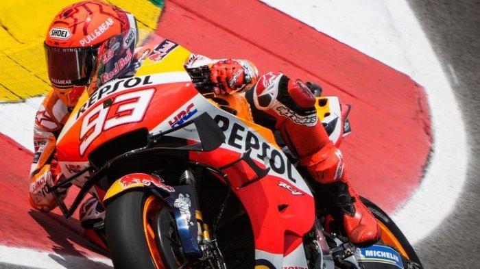 Marc Marquez dalam aksinya di ajang MotoGP.