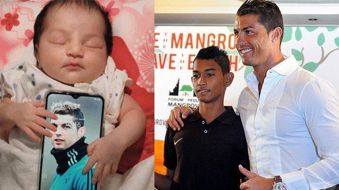 Cristiano Ronaldo Kini Punya Cucu Asal Indonesia, Martunis Pamer Foto Putrinya Peluk Foto Kakek