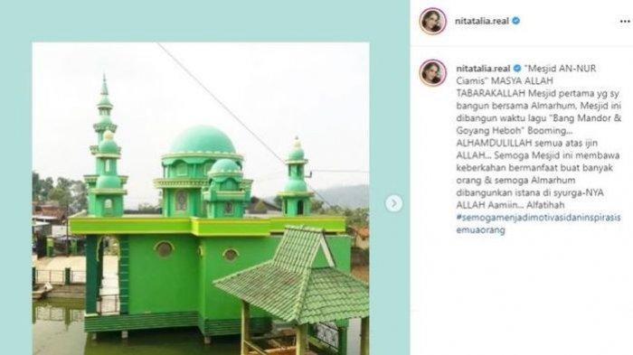 Masjid pertama yang dibangun <a href='https://manado.tribunnews.com/tag/nita-thalia' title='NitaThalia'>NitaThalia</a>