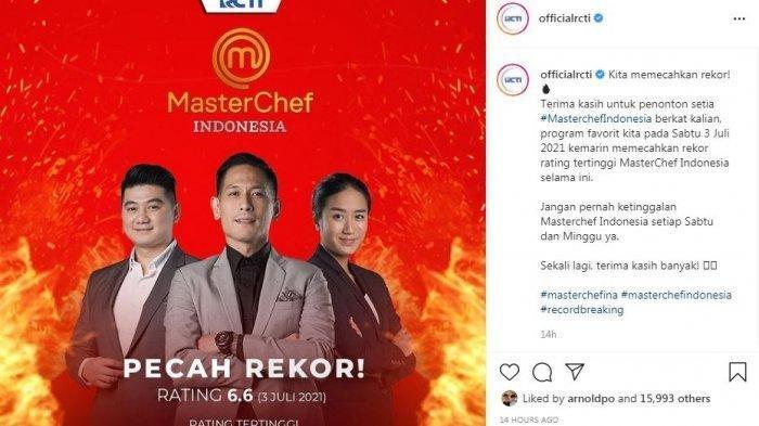 Master Chef Indonesia Season 8 pecah rekor usai hadirkan pemain Ikatan Cinta