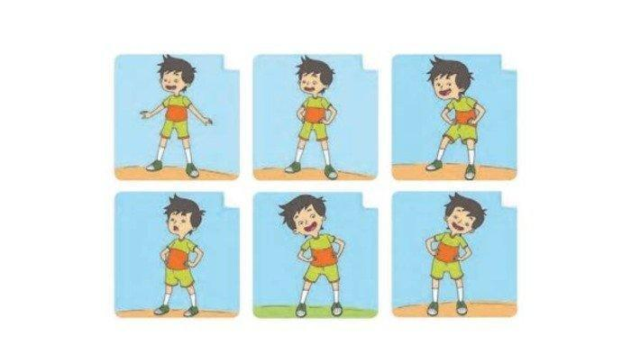 KUNCI JAWABAN Buku Tematik Tema 2 Kelas 1 SD Subtema 2 Halaman 86-88: Kepala Pundak Lutut Kaki