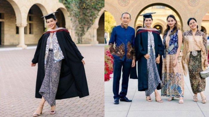 Penampilan Maudy Ayunda di Wisuda Kedua Kampus Stanford, Tampil Anggun Pakai Batik, Lihat Potretnya!