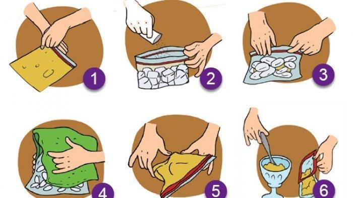 KUNCI JAWABAN Tema 3 Kelas 3 SD Hal 132, 133, 134, 135, Apa Fungsi Garam untuk Pembuatan Es Krim?