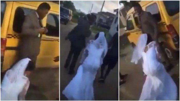 NEKAT Cium Pria Lain di Hari Pernikahan, Mempelai Wanita Berlutut Minta Maaf, Pengantin Pria Ngamuk