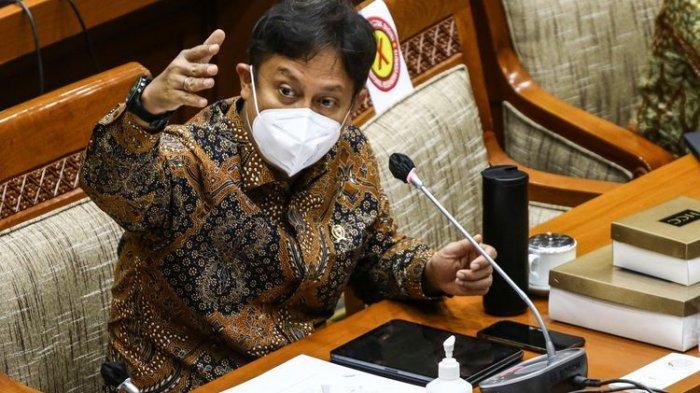 Menkes Budi Gunadi Sadikin saat rapat kerja bersama Komisi IX DPR di Parlemen, Senayan, (13/1/2021)