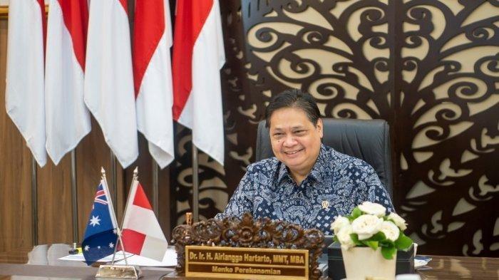 Menteri Koordinator Bidang Perekonomian Airlangga Hartarto menjadi pemimpin Delegasi Indonesia pada ETIMM yang dilaksanakan secara virtual, Selasa (6/7)