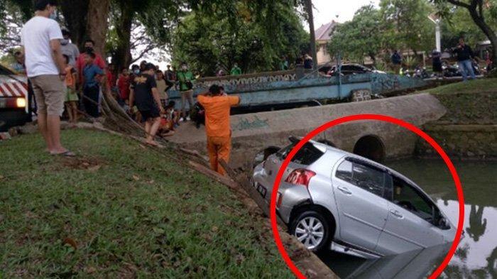 Dikira Injak Rem Ternyata Pedal Gas, Sopir di Bintaro Buat Mobilnya Tabrak Trotoar & Nyebur ke Kali
