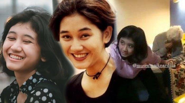 Momen haru pertemuan ibunda Nike Ardilla dan Amel, gadis viral yang disebut mirip sang legenda.
