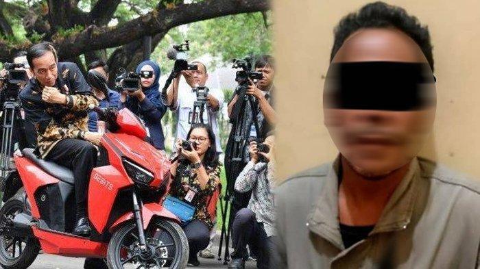 Iseng Tawar Motor Listrik Jokowi Rp 2,550 Miliar, Kini M Nuh Ditangkap Polisi Gegara Tak Bisa Bayar