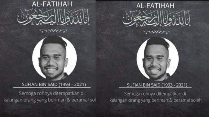 Muhammad Sufian meninggal dunia di tanggal yang sama seperti almh ibunda