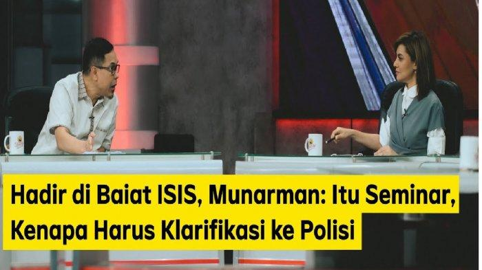 Munarman vs Najwa Shihab di acara Mata Najwa. Munarman kesal pertanyaan Najwa Shihab soal baiat ISIS di Makassar.