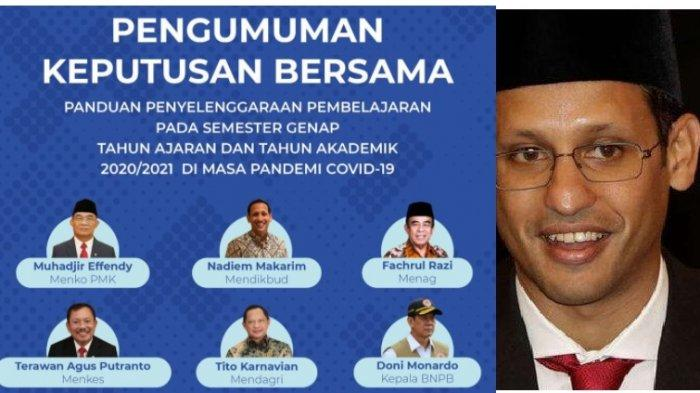 live streaming Kemendikbud Panduan Belajar Semester Genap 2020 /2021 bersama Mendikbud Nadiem Makarim Jumat 20 November 2020 jam 13.30 WIB
