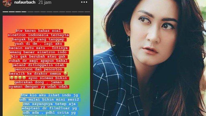 Nafa Urbach Beri Kritik untuk Sinetron Indonesia, Drama Korea Justru Lebih Diminati
