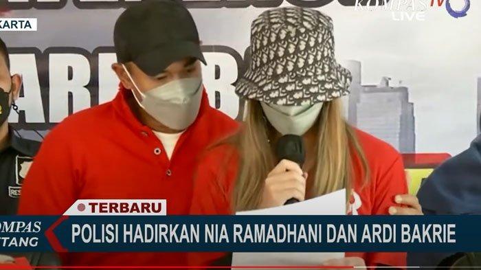 Nia Ramadhani menangis saat minta maaf di hadapan publik