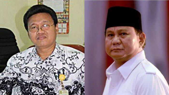 Nurhali (kiri) dan Prabowo (kanan).