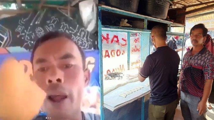Mang Oleh, penjual odading dan cakwe yang viral berkat video yang beredar.