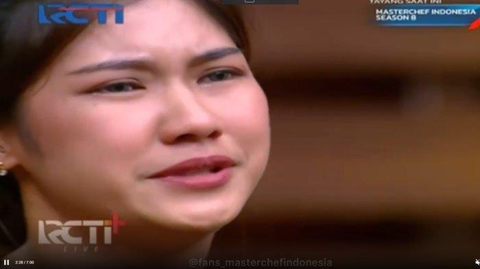 Olivia menangis, mengundurkan diri dari Masterchef Indonesia