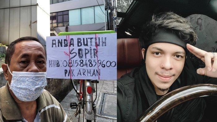 Pria Paruh Baya Viral Tawarkan Diri Jadi Sopir Pakai Sepeda Kayuh Akhirnya Direkrut Atta Halilintar
