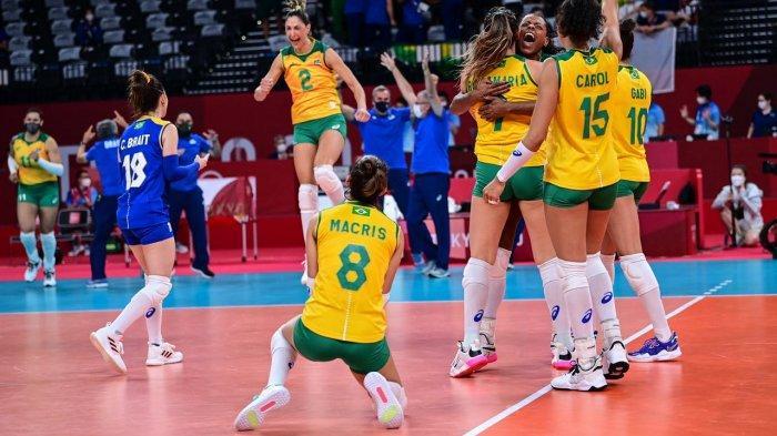 LIVE STREAMING Bola Voli Putri Semifinal Olimpiade Tokyo 2020: Brasil VS Korsel, Amerika vs Serbia