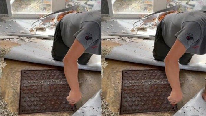 CIUM Bau Busuk di Kamar, Pasutri Kaget Temukan Tutup Besi di Bawah Karpet Tua, Ini Isinya