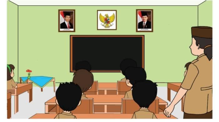 SOAL & KUNCI JAWABAN Tema 8 Kelas 3 SD Subtema 1 Hal 13-15, Dimanakah Lambang Negara Dipasang?