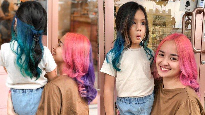 PENAMPILAN BARU & Cantik Joanna Alexandra, Ajak Sang Putri Cat Rambut, Warna Mencolok, Berani Beda!