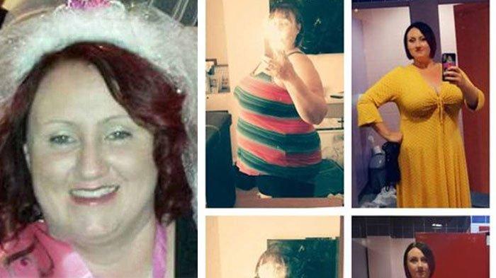 Penampilan Carley Fisher sebelum diet