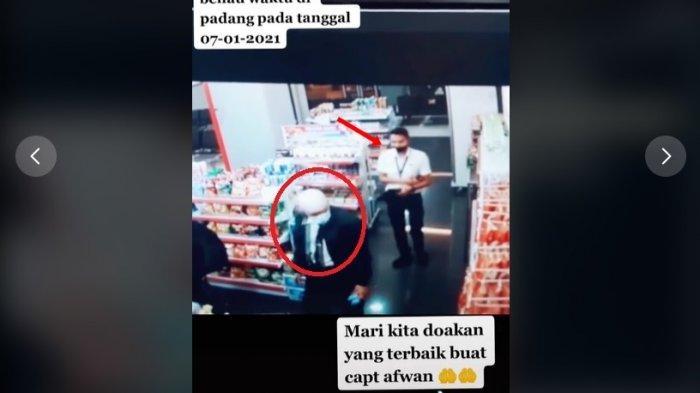Pengakuan pria yang terekam dibelikan snack Kapten Afwan