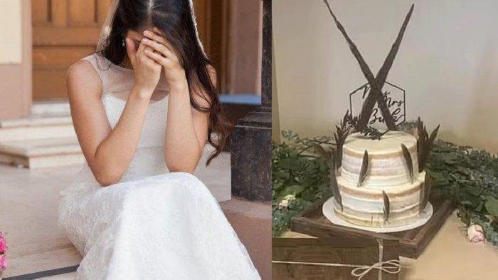 PATAH Hati Pengantin Wanita, Kue Pernikahan Tak Sesuai Ekspetasi, Bentuknya Justru Memalukan