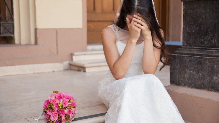 Ilustrasi tangis mempelai pengantin wanita