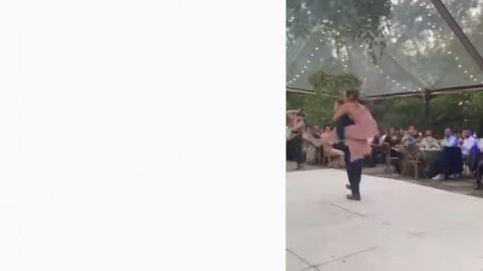 Pengantin terjungkal saat dansa