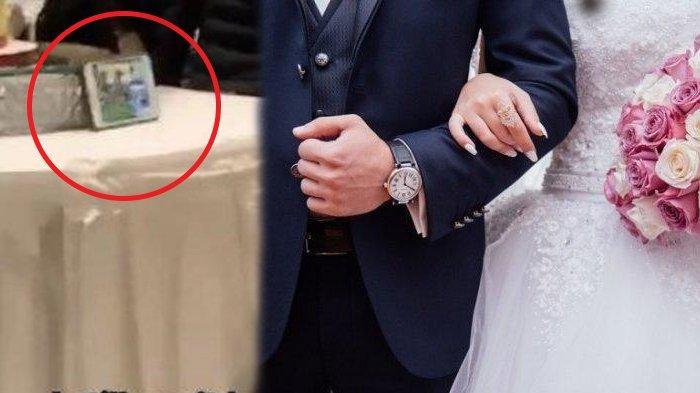 Istri Murka! Mempelai Pria Malah Nonton Ini di Resepsi Nikah, HP Diletakkan Dekat Kue: 'Tak Percaya'