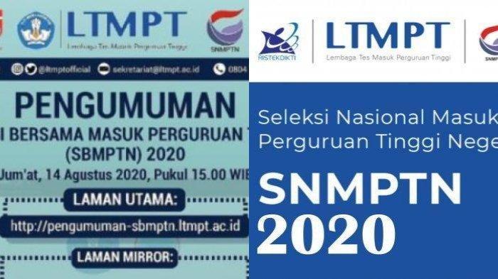 Sebanyak 167.653 Calon Mahasiswa Lulus Seleksi SBMPTN 2020, Masih Ada Jalan Lain untuk Masuk PTN